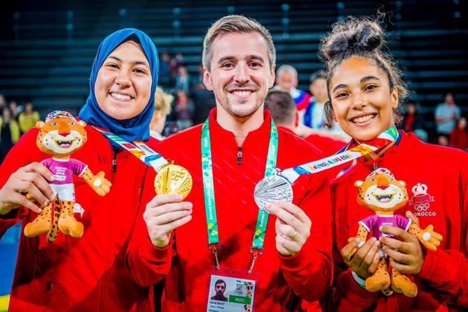 فاطمة الزهراء أبو فارس تهدي المغرب أول ميدالية ذهبية في تاريخ أولمبياد الشباب